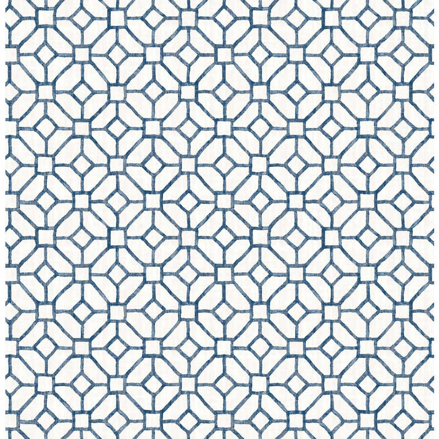 Brewster Wallcovering Navy Classic Geometric Wallpaper