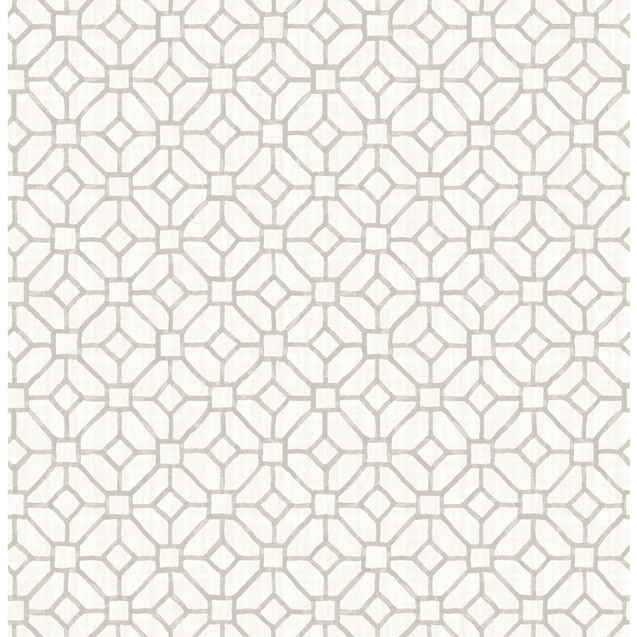Brewster Wallcovering Ami Light Grey Non-Woven Geometric Wallpaper