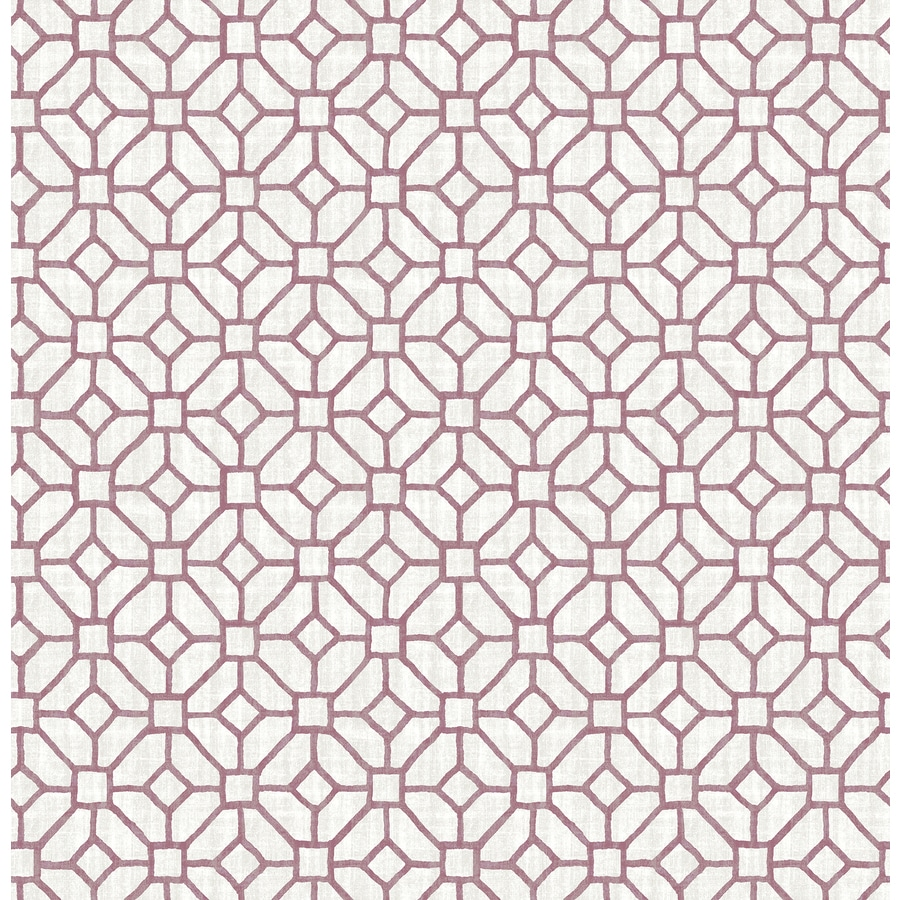 Brewster Wallcovering Plum Classic Geometric Wallpaper
