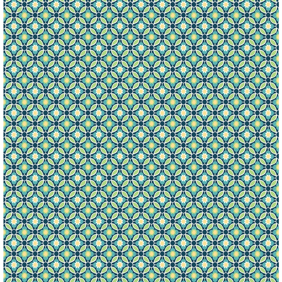Brewster Wallcovering Ami Blue Non-Woven Geometric Wallpaper