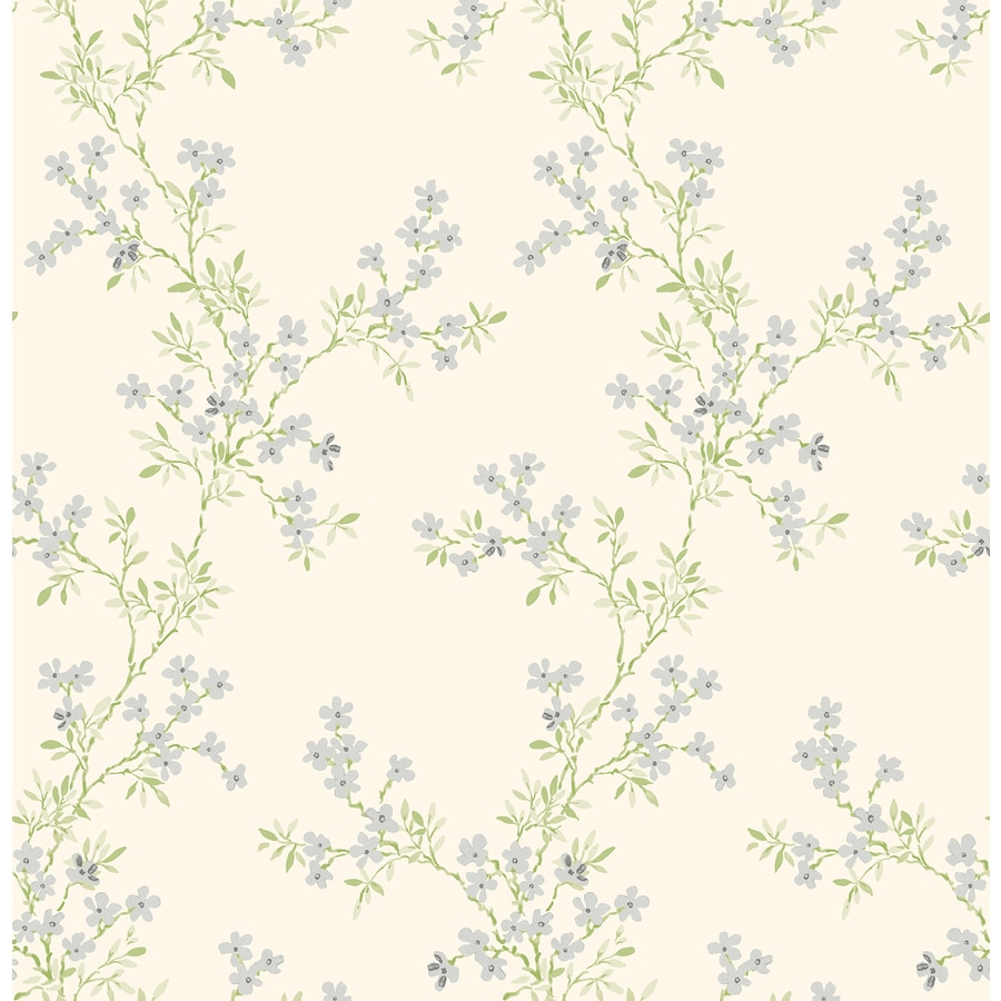 Brewster Wallcovering Silver Classic Floral Wallpaper