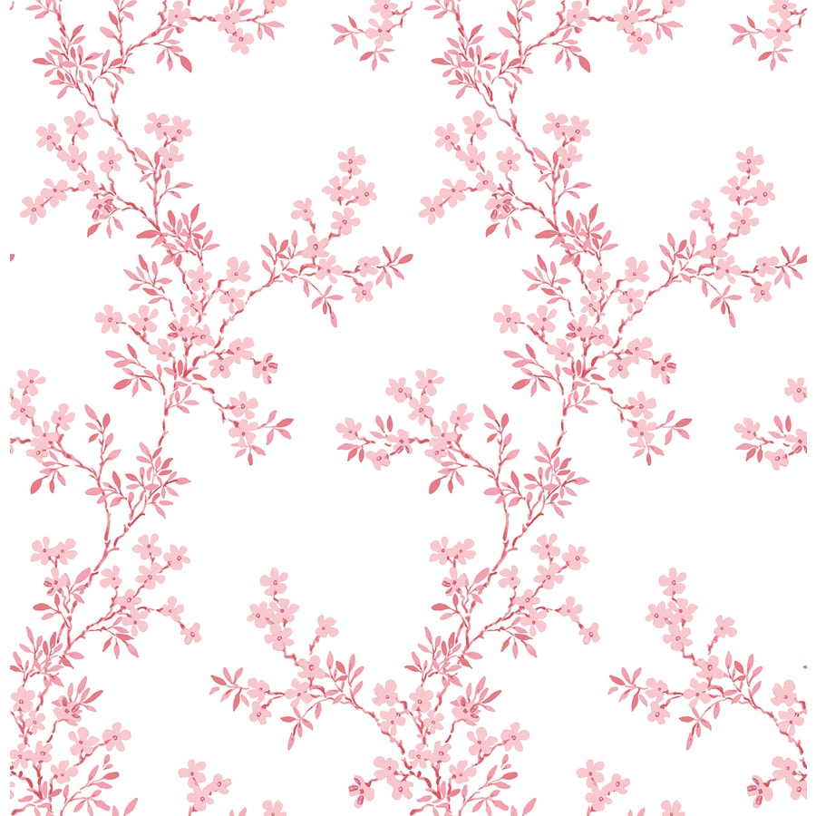 Brewster Wallcovering Pink Classic Floral Wallpaper