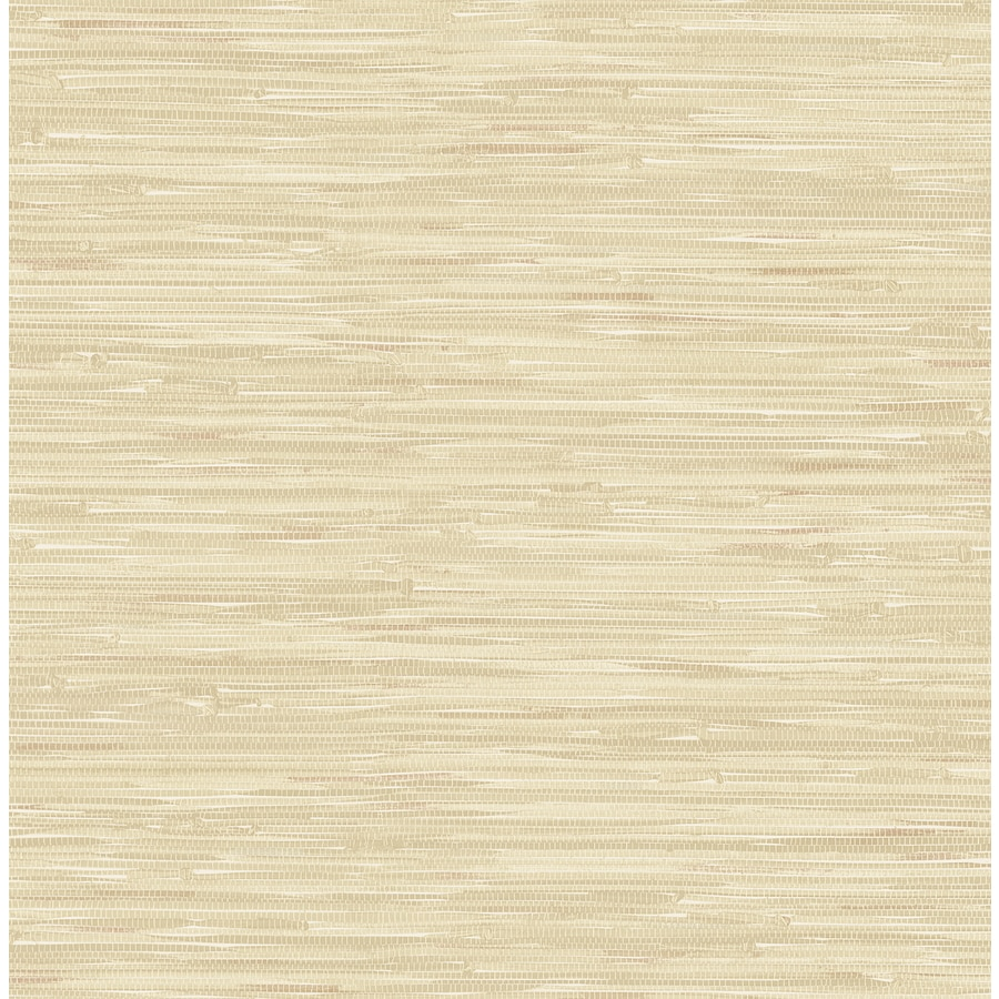 Brewster Wallcovering Ami Taupe Non-Woven Grasscloth Wallpaper