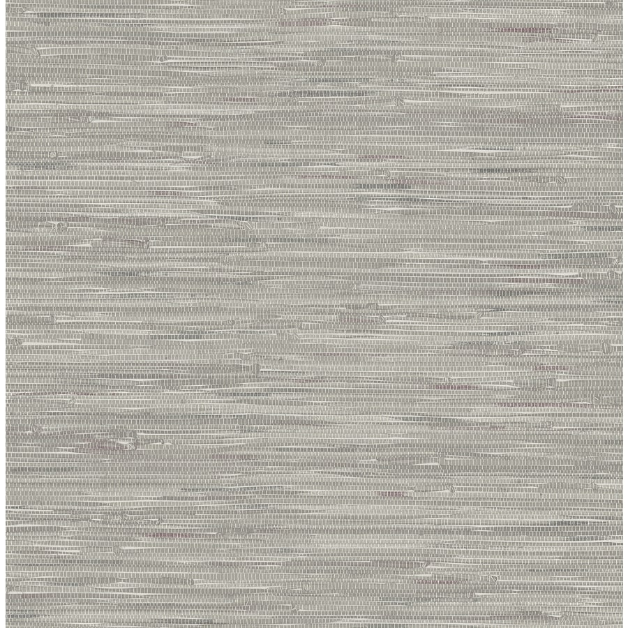 Brewster Wallcovering Ami 56 Sq Ft Grey Non Woven Grasscloth Wallpaper