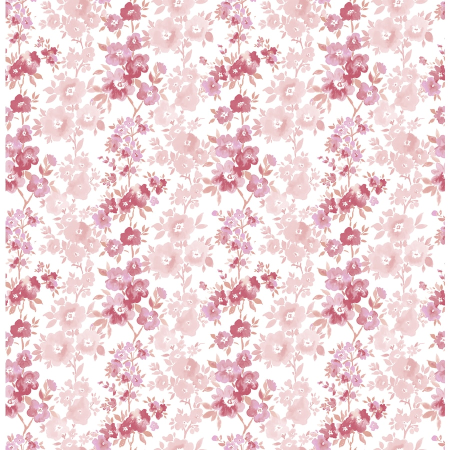 Brewster Wallcovering Ami Pink Non-Woven Floral Wallpaper