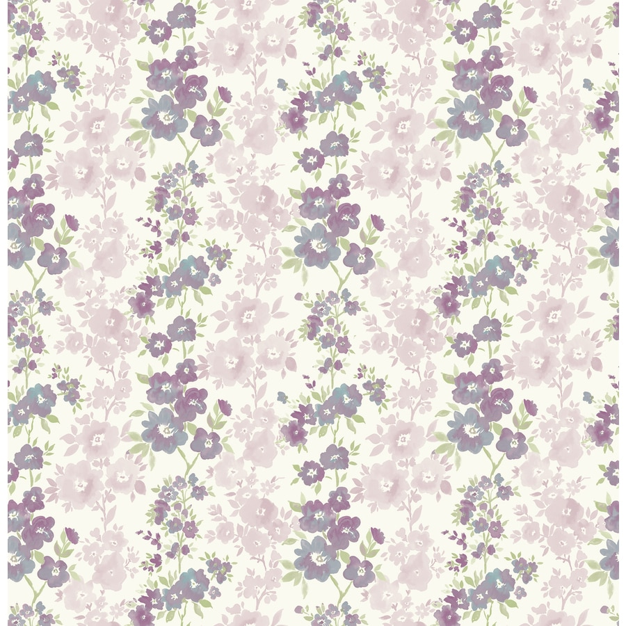 Brewster Wallcovering Ami Plum Non-Woven Floral Wallpaper