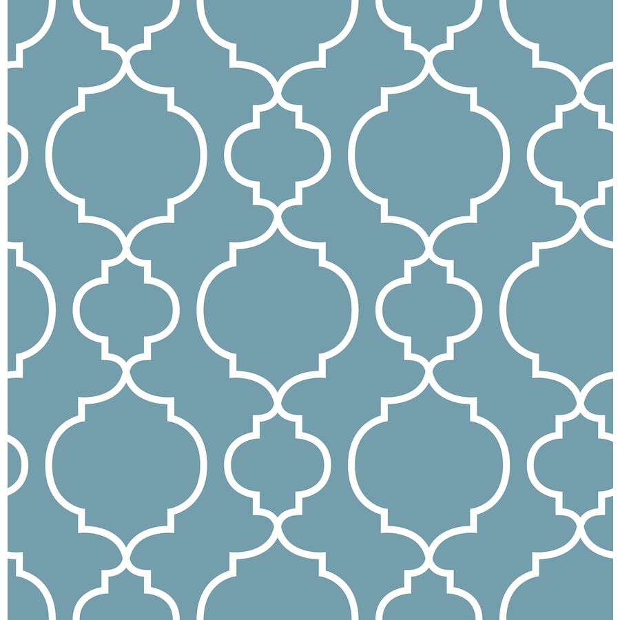 Brewster Wallcovering Ami Blueberry Non-Woven Geometric Wallpaper