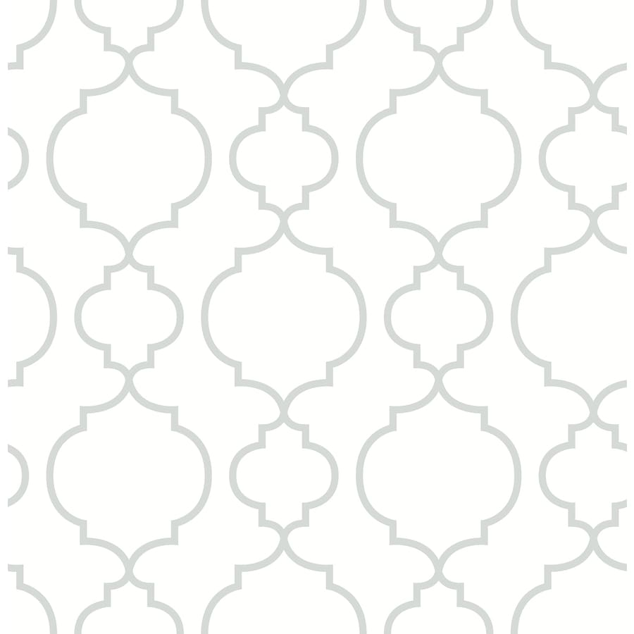 Brewster Wallcovering White Classic Geometric Wallpaper