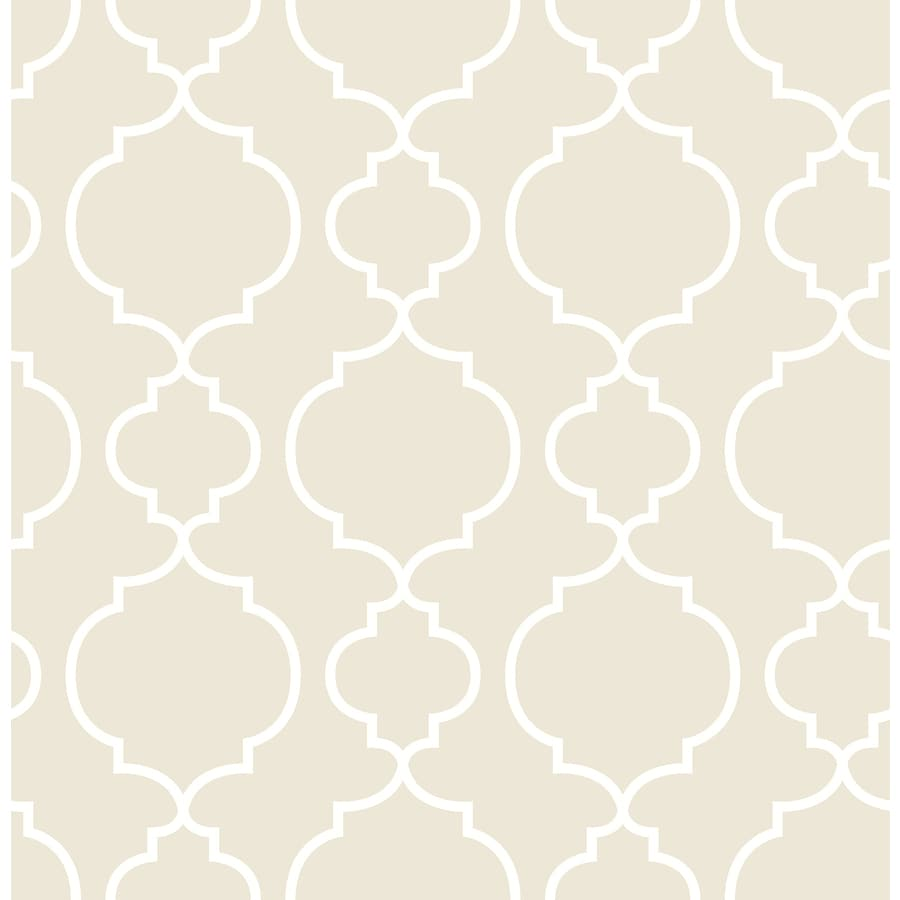 Brewster Wallcovering Ami Taupe Non-Woven Geometric Wallpaper