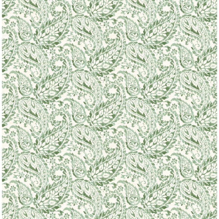 Brewster Wallcovering Ami Green Non-Woven Paisley Wallpaper