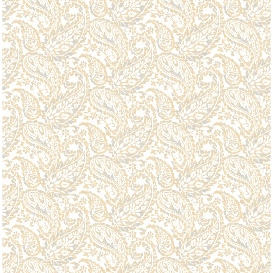 Brewster Wallcovering Ami Honey Non-Woven Paisley Wallpaper