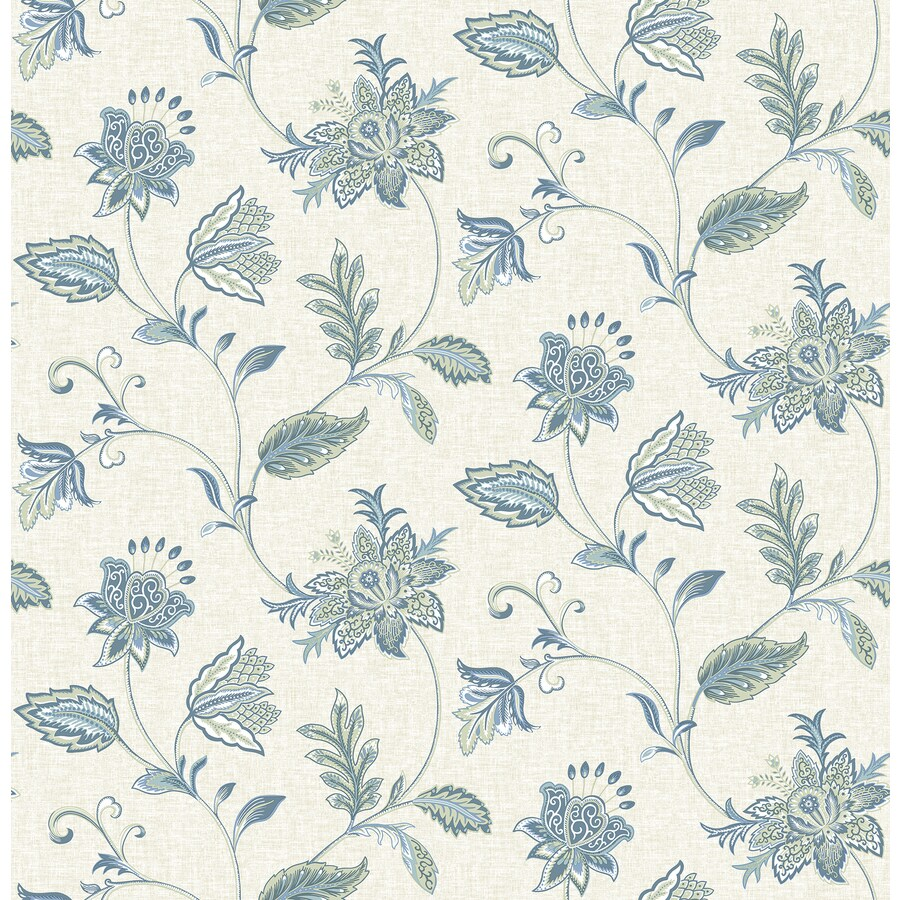 Brewster Wallcovering Ami Denim Non-Woven Floral Wallpaper