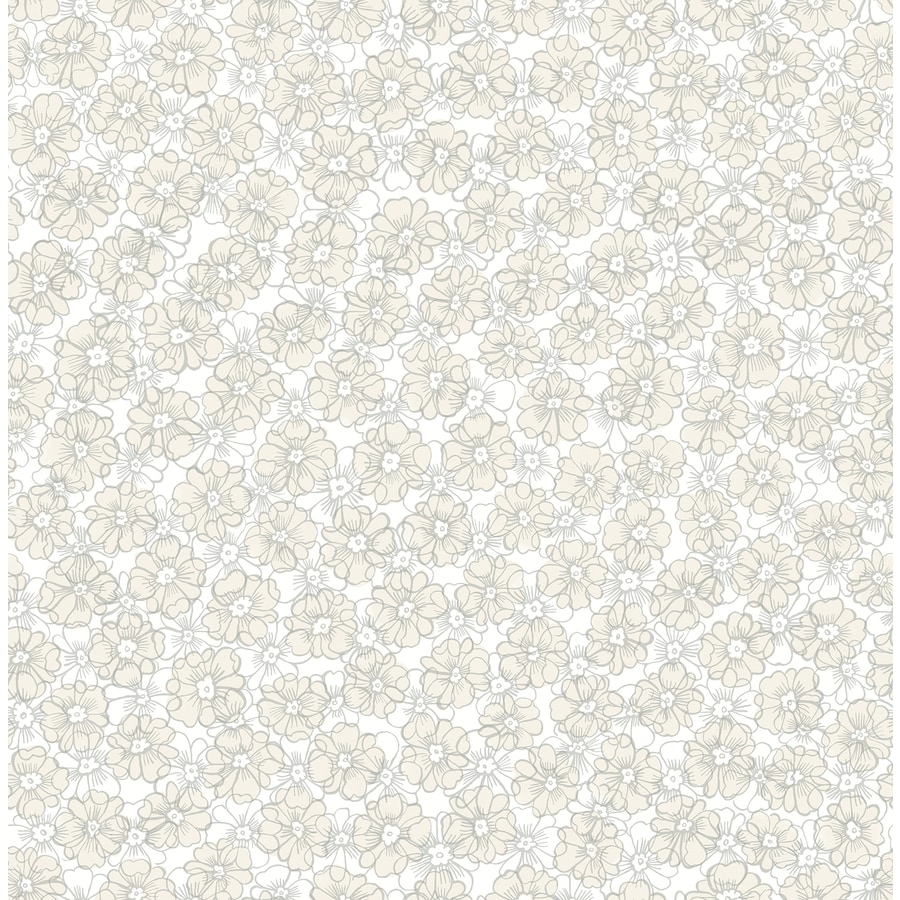 Brewster Wallcovering Taupe Classic Floral Wallpaper