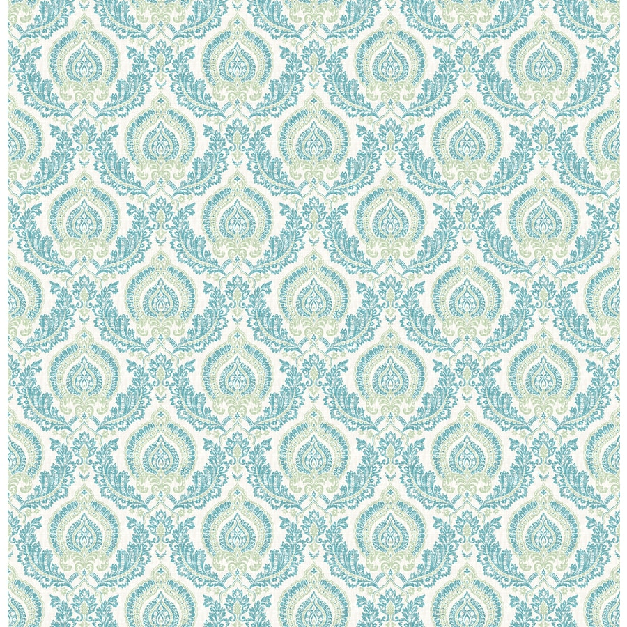 Brewster Wallcovering Ami Green Non-Woven Damask Wallpaper