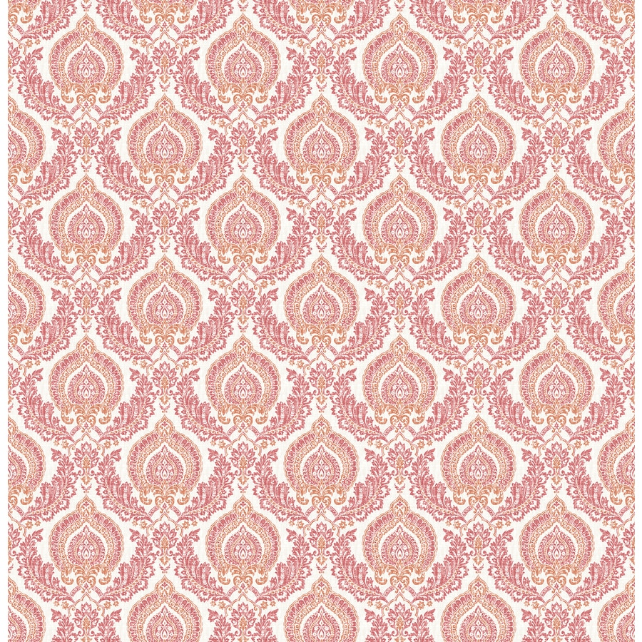 Brewster Wallcovering Rose Classic Damask Wallpaper