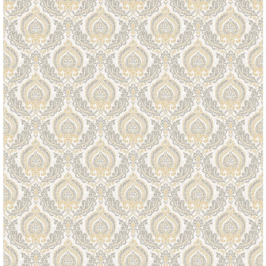 Brewster Wallcovering Ami Honey Non-Woven Damask Wallpaper