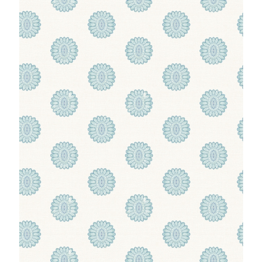 Brewster Wallcovering Ami Aquamarine Non-Woven Geometric Wallpaper