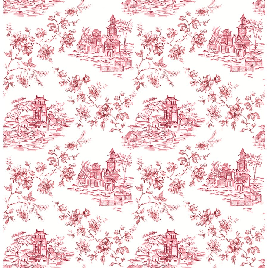 Brewster Wallcovering Merlot Classic Toile Wallpaper