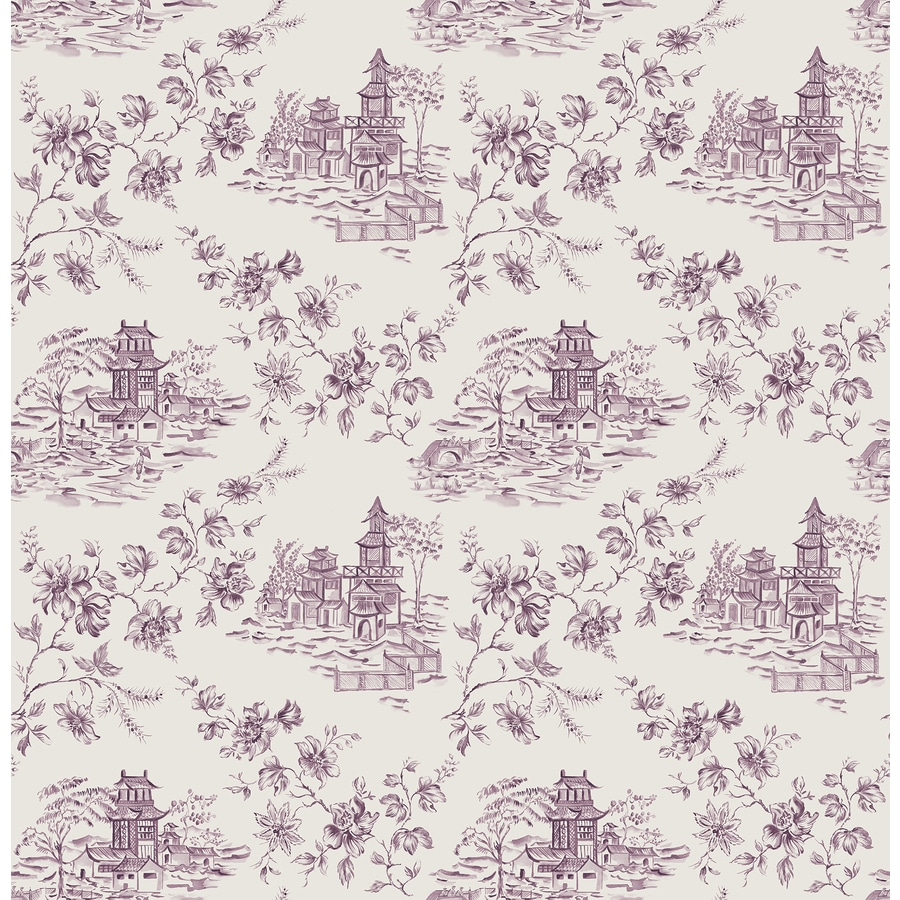 Brewster Wallcovering Ami Purple Non-Woven Toile Wallpaper