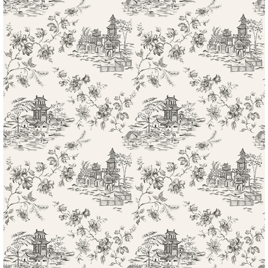 Brewster Wallcovering Ink Classic Toile Wallpaper