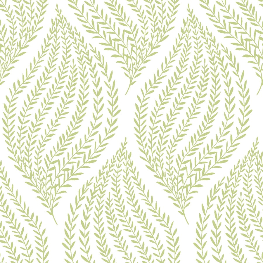 Shop brewster wallcovering 30 sq ft lime vinyl ivy vines for Vinyl peel and stick wallpaper