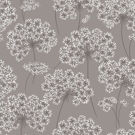 Shop wallpaper at lowes brewster wallcovering 30 sq ft grey vinyl floral peel and stick wallpaper mightylinksfo