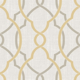 Brewster Wallcovering 30 Sq Ft Yellow Vinyl Geometric Peel And Stick Wallpaper