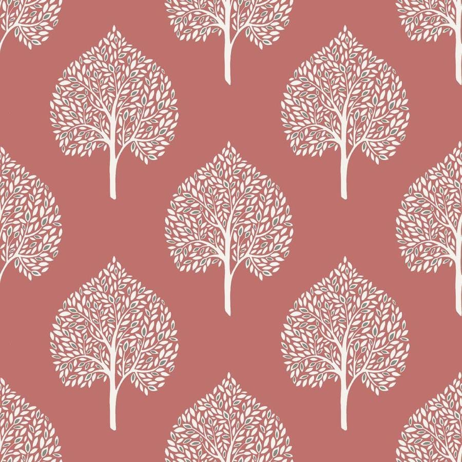 Brewster Wallcovering Peel and Stick Coral Vinyl Ivy/Vines Wallpaper