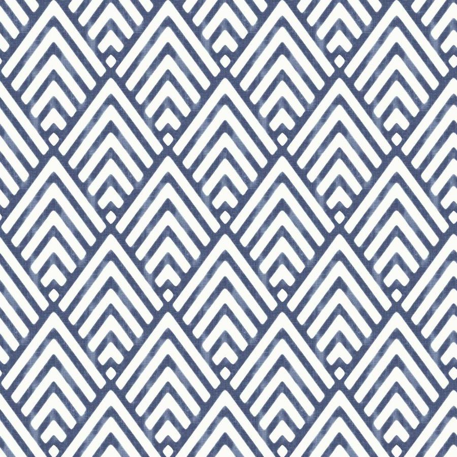 Brewster Wallcovering Peel and Stick Blue Vinyl Geometric Wallpaper