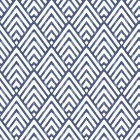 Castle Crane 30 75 Sq Ft Blue Vinyl Geometric Wallpaper