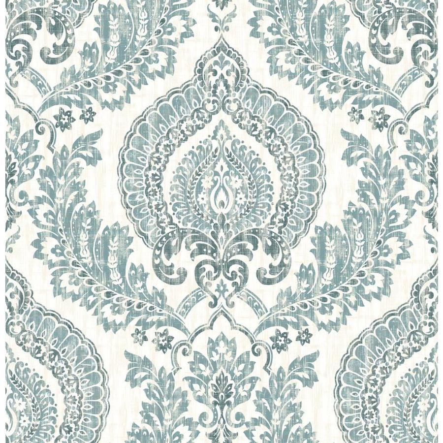 Shop brewster wallcovering peel and stick blue vinyl for Vinyl peel and stick wallpaper