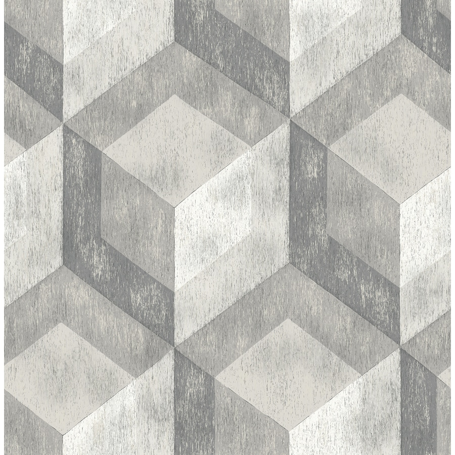 Brewster Wallcovering Reclaimed Ash Non-Woven Geometric Wallpaper