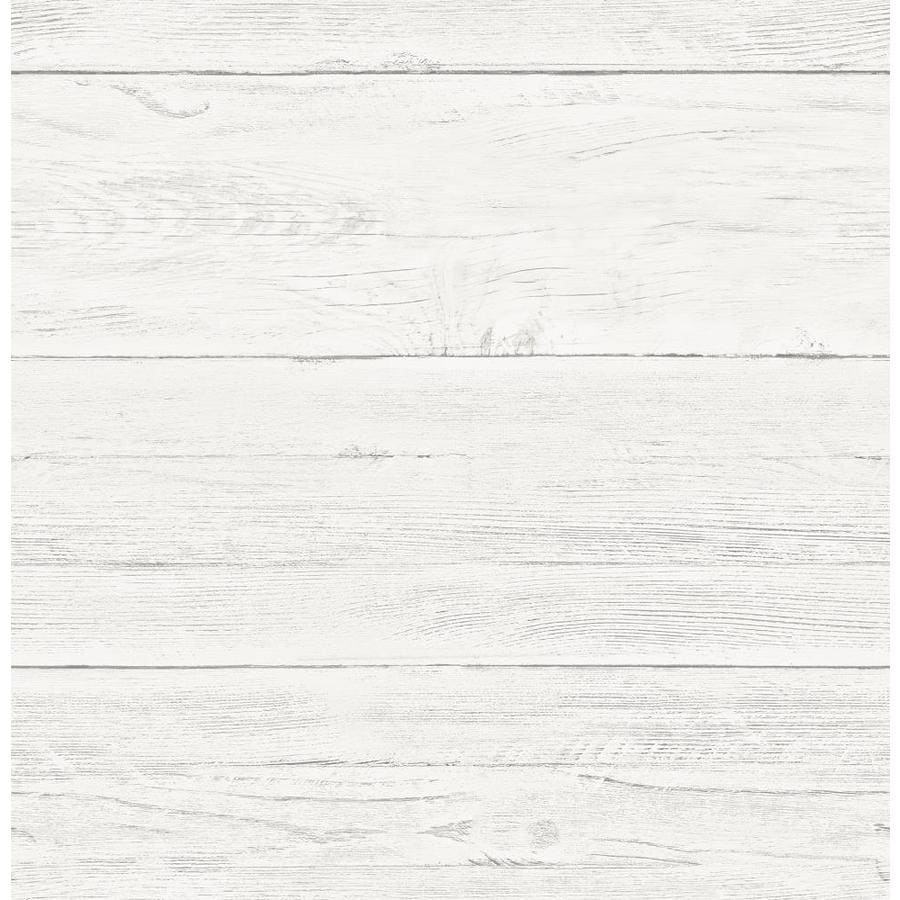 Brewster Wallcovering Reclaimed Cream Non-Woven Textured Wood 3-D Wallpaper