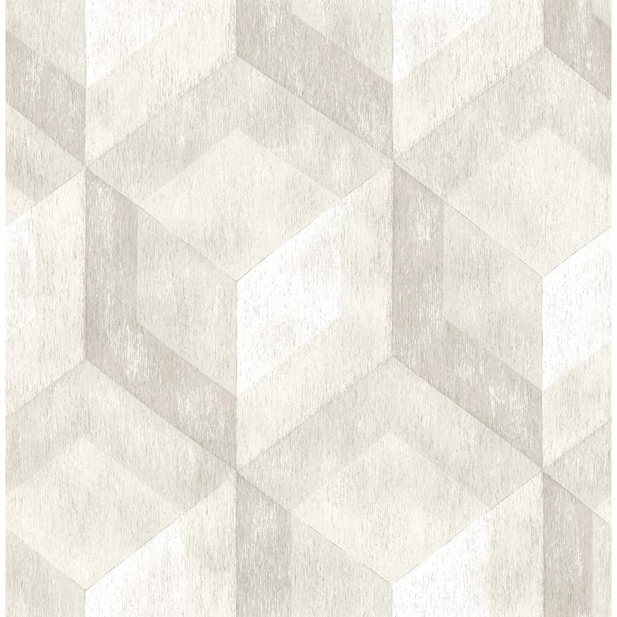 Brewster Wallcovering Reclaimed Cream Non-Woven Geometric Wallpaper