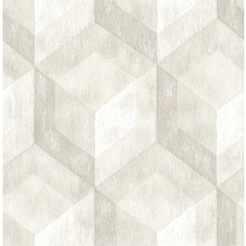 Brewster Wallcovering Reclaimed Cream Non Woven Geometric Wallpaper