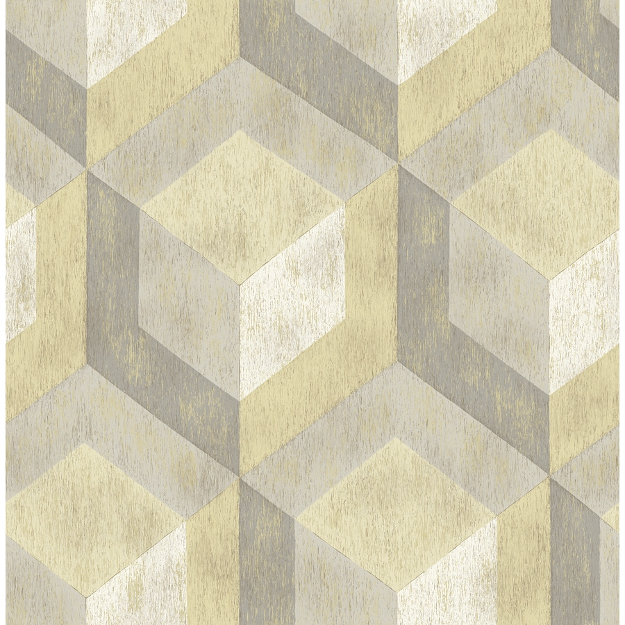 Brewster Wallcovering Reclaimed Honey Non-Woven Geometric Wallpaper