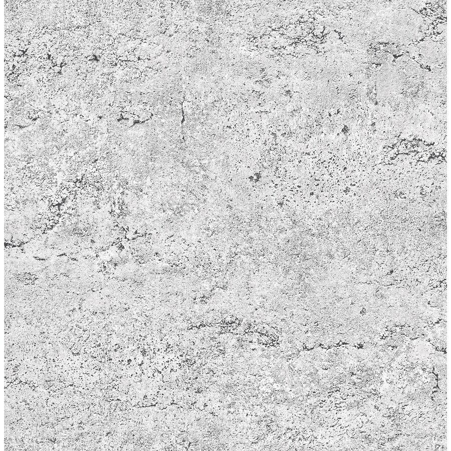 Brewster Wallcovering Reclaimed Light Grey Non-Woven Stone Wallpaper