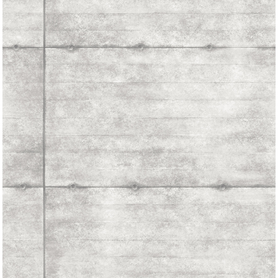 Brewster Wallcovering Reclaimed 56-sq ft Light Grey Non-Woven Stone  Wallpaper