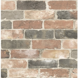 Brewster Wallcovering Reclaimed 56 Sq Ft Dusty Red Non Woven Brick Wallpaper