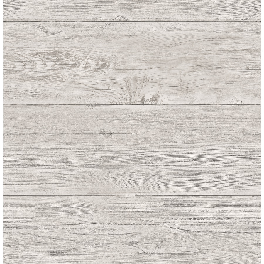 Brewster Wallcovering Reclaimed Grey Non-Woven Textured Wood 3-D Wallpaper