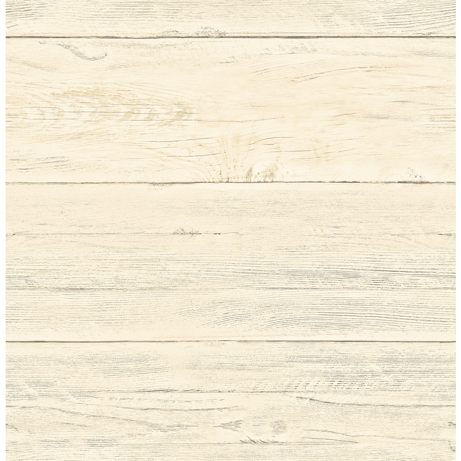Brewster Wallcovering Reclaimed Honey Non-Woven Textured Wood 3-D Wallpaper