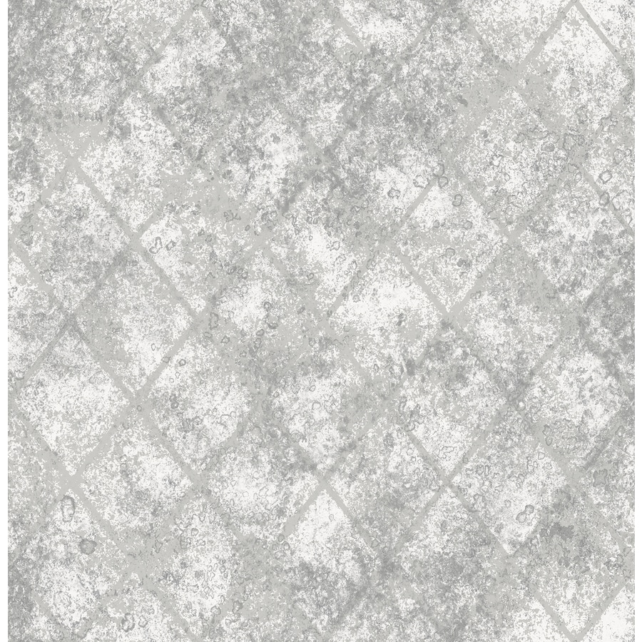 Brewster Wallcovering Reclaimed Silver Non-Woven Abstract Wallpaper