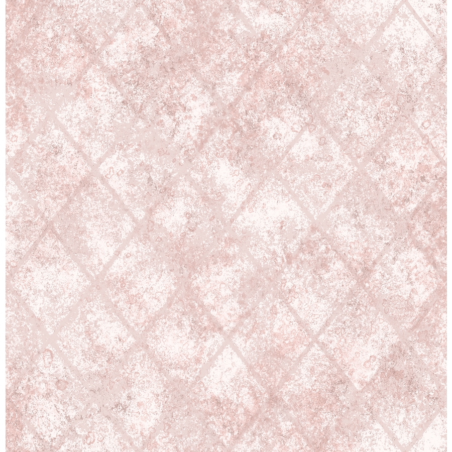 Brewster Wallcovering Reclaimed Pink Non-Woven Abstract Wallpaper