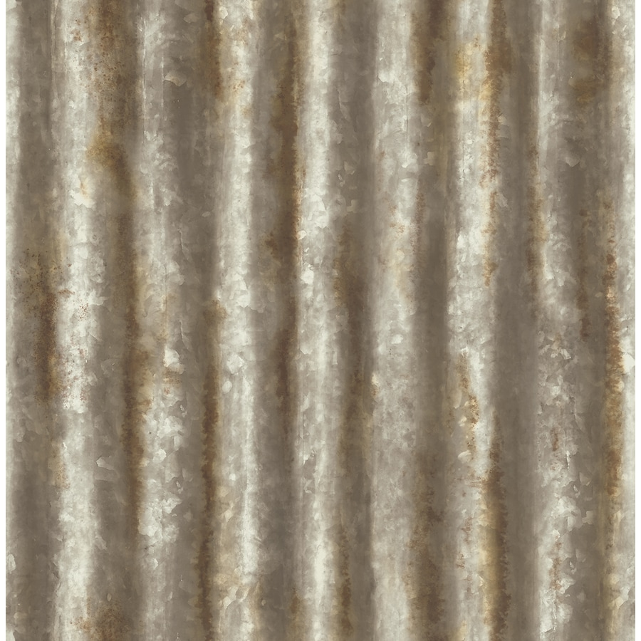 Brewster Wallcovering Reclaimed Rust Non-Woven Textured Abstract 3-D Wallpaper