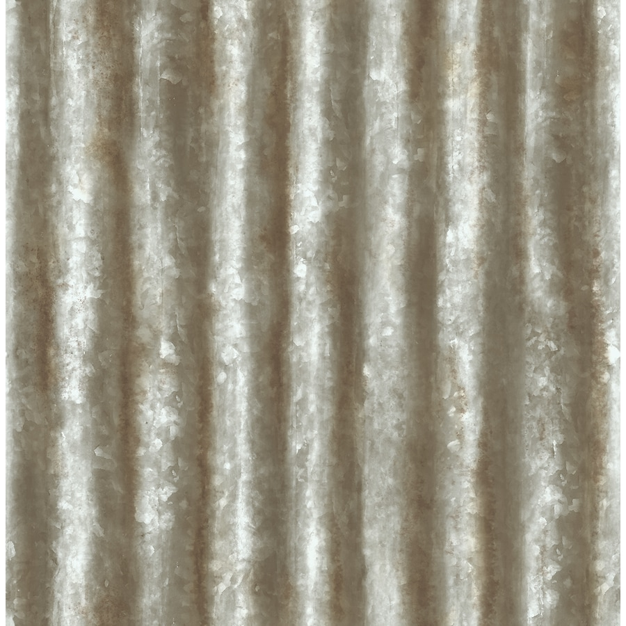 Brewster Wallcovering Reclaimed Grey Non-Woven Textured Abstract 3-D Wallpaper