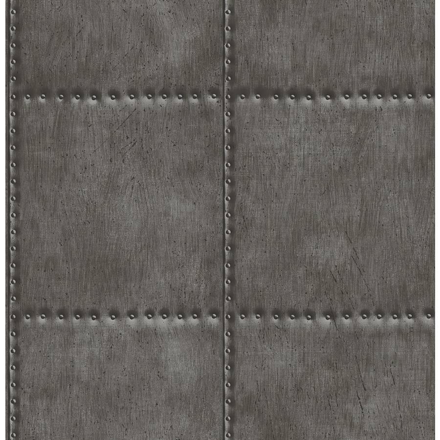 Brewster Wallcovering Reclaimed Charcoal Non-Woven Textured Abstract 3-D Wallpaper