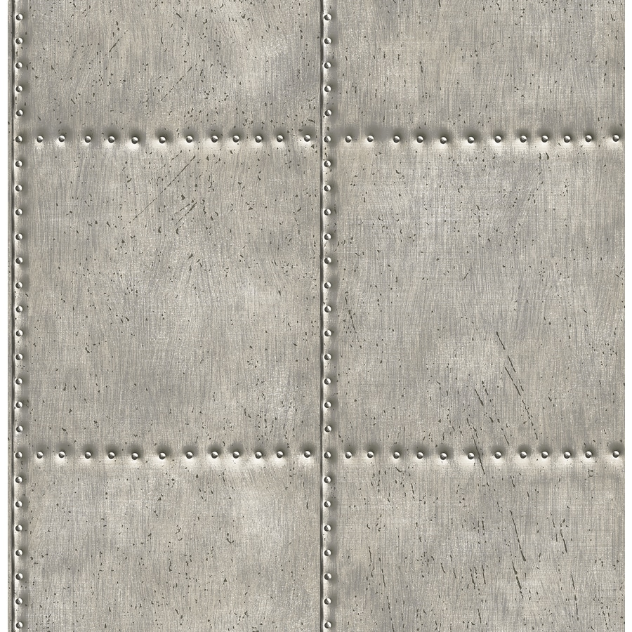 Brewster Wallcovering Reclaimed Silver Non-Woven Textured Abstract 3-D Wallpaper