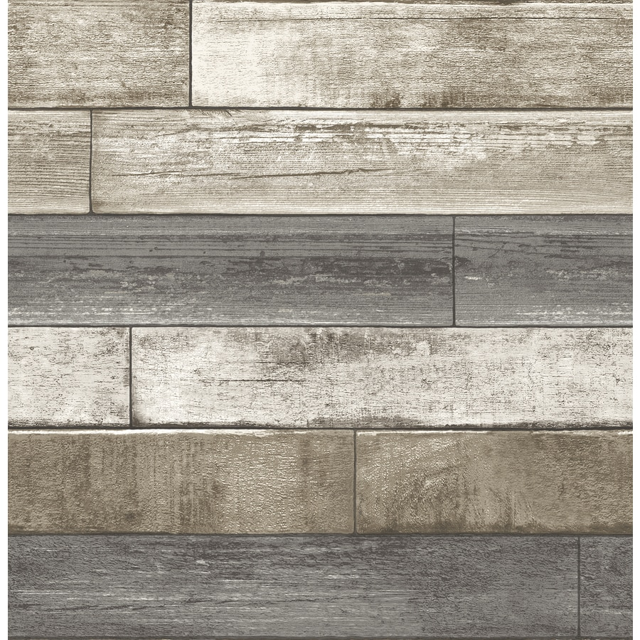 Brewster Wallcovering Reclaimed 56 Sq Ft Grey Non Woven