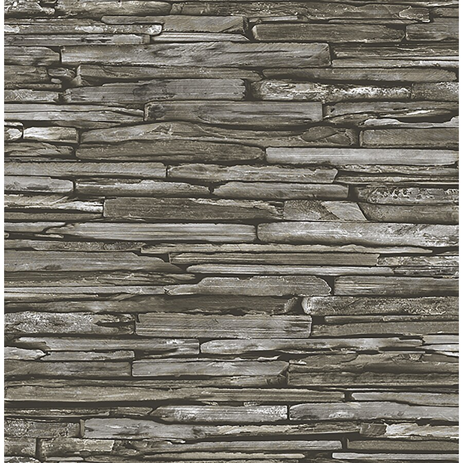 Brewster Wallcovering Reclaimed Green Non-Woven Stone Wallpaper