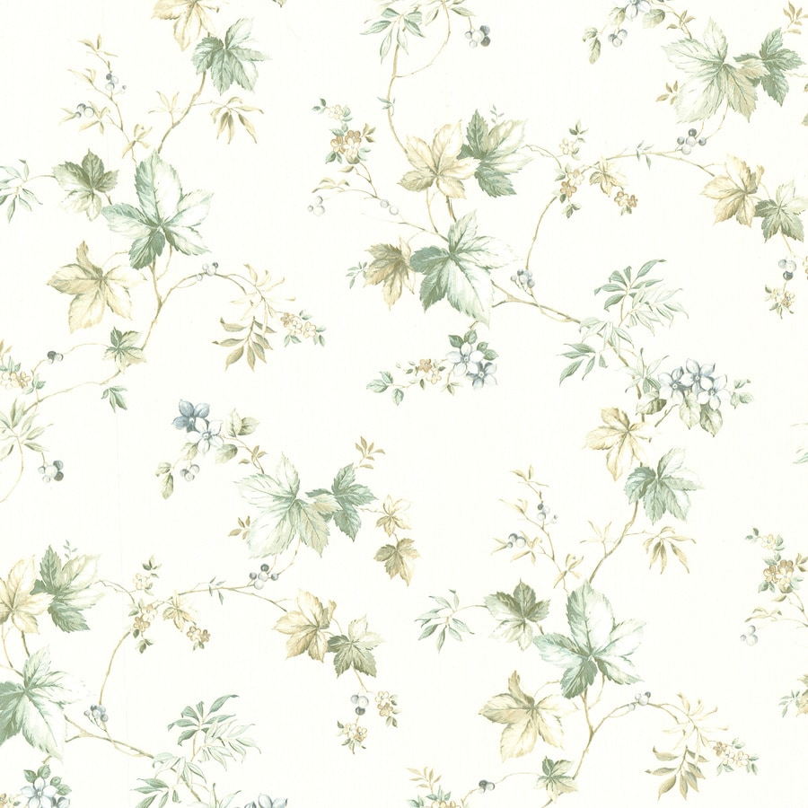 Brewster Wallcovering Kitchen and Bath Resource III White Vinyl Floral Wallpaper